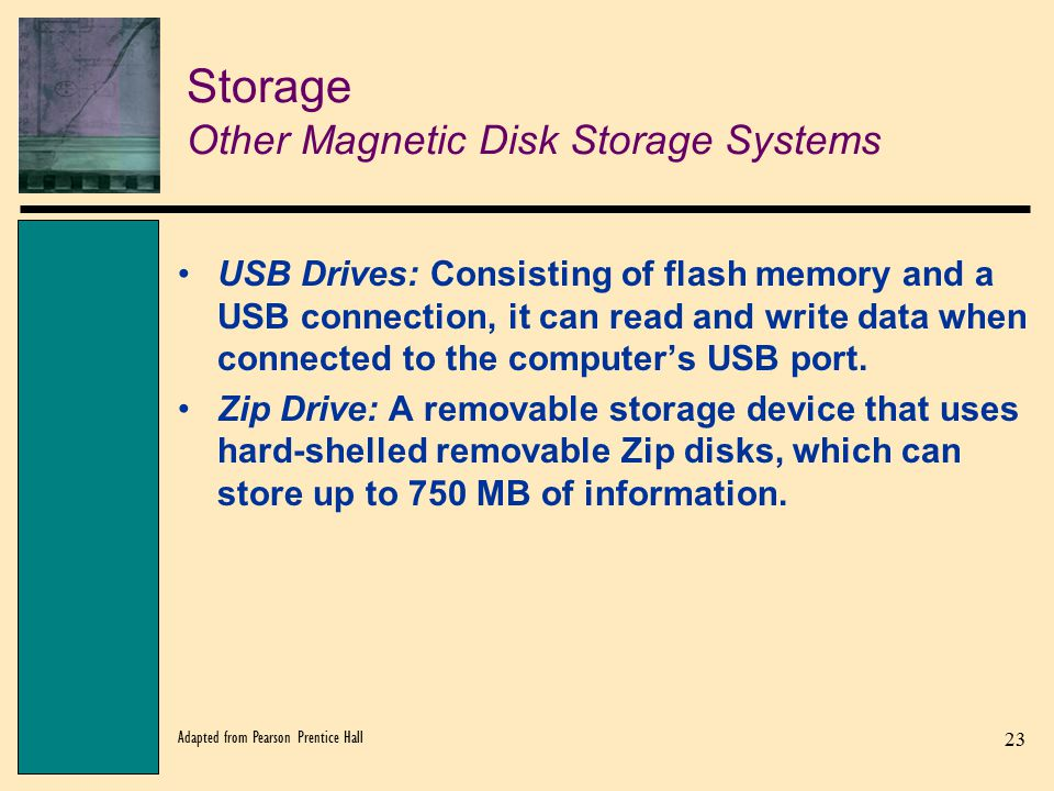 Storage Other Magnetic Disk Storage Systems