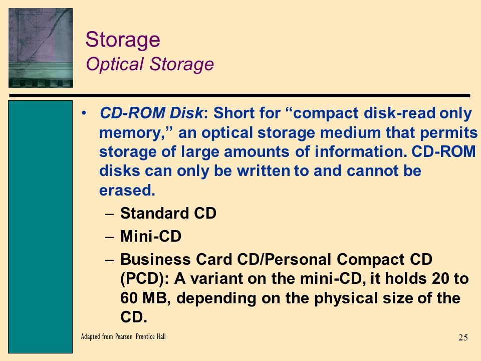 Storage Optical Storage