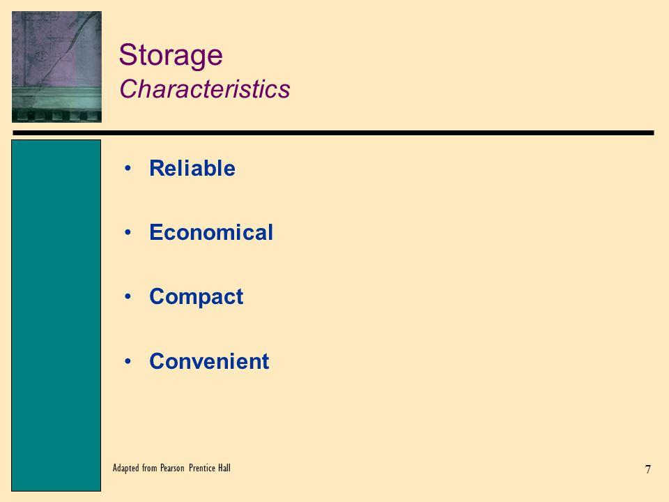 Storage Characteristics