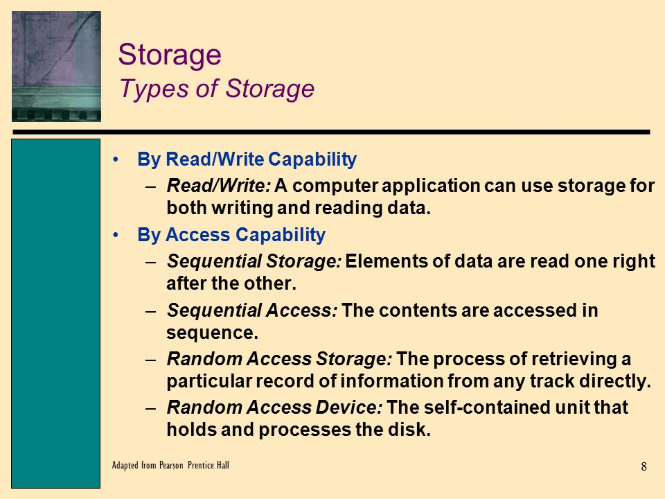 Storage Types of Storage
