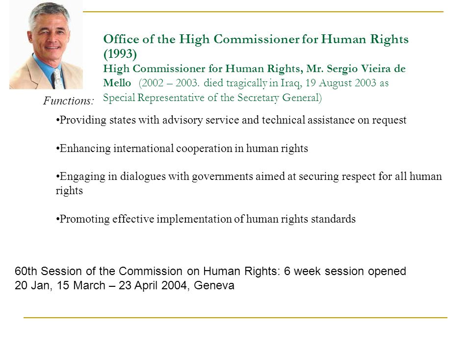 Un structure and monitoring bodies ppt download - Office for the high commissioner for human rights ...