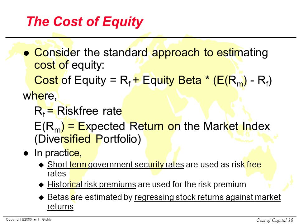 how to get equity beta