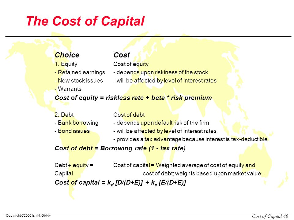 case cost of capital