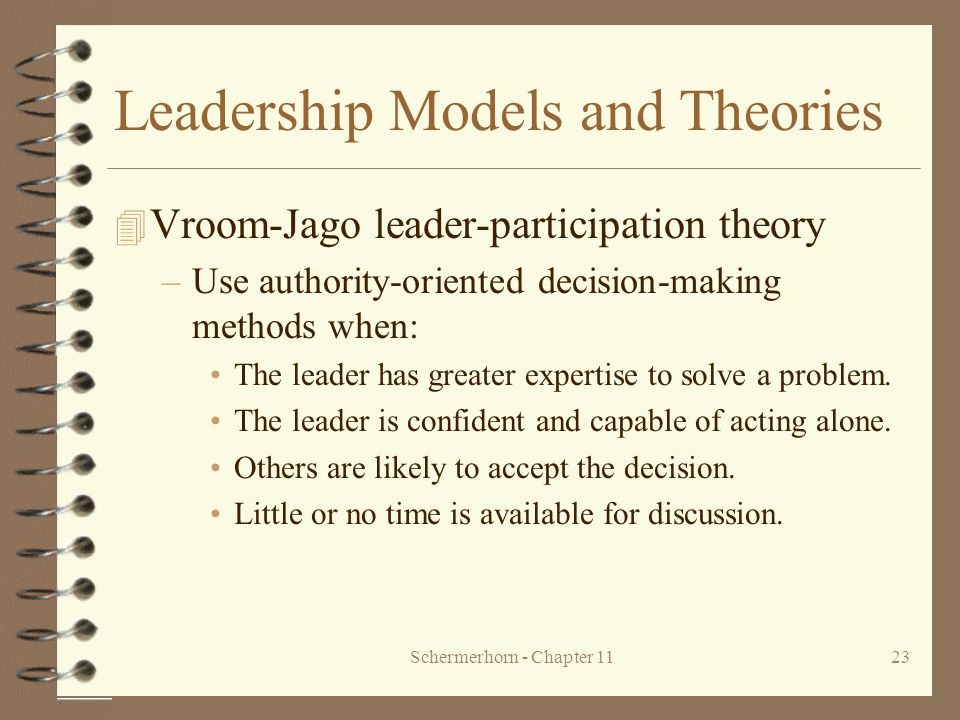 Leadership Models and Theories