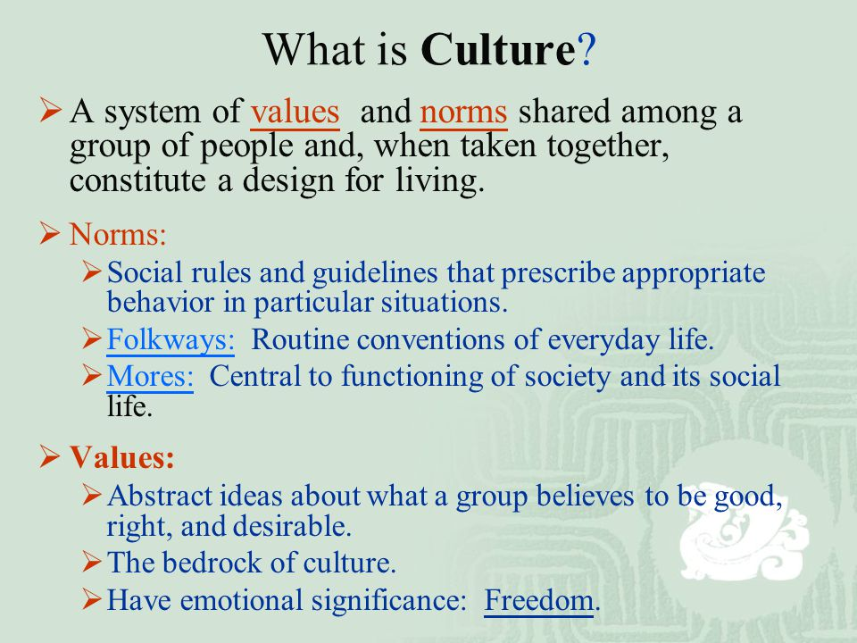 culture as a system of norms The german culture stems from the beliefs and values of its people the role  visit our education page to learn more about the german education system.