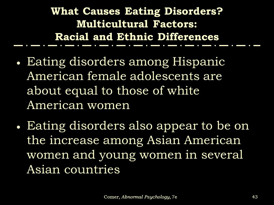 The several common eating disorders among women