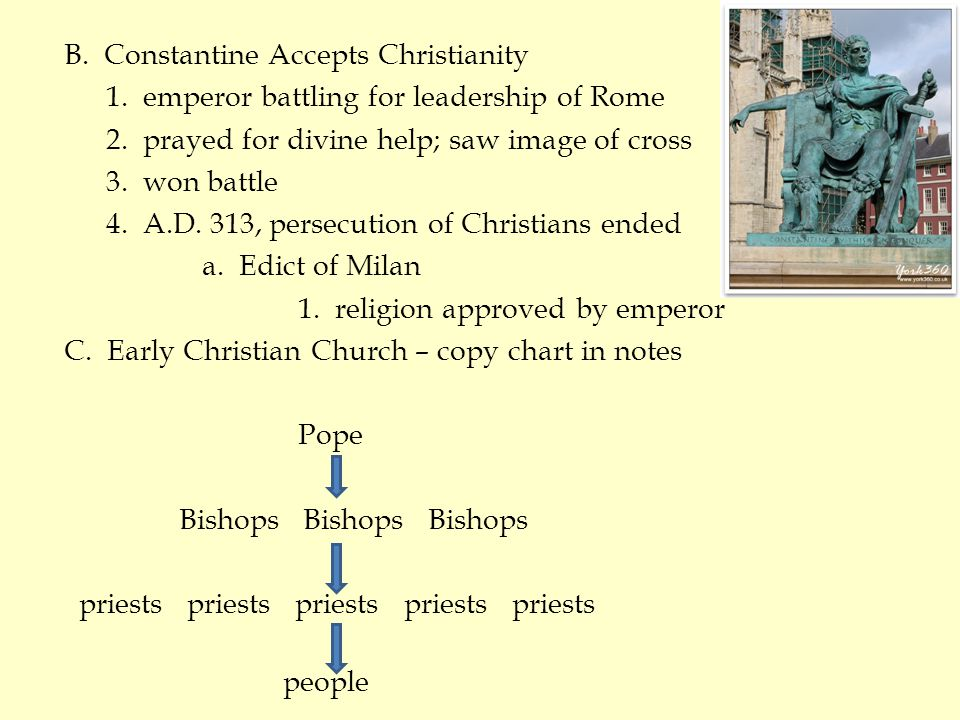 B. Constantine Accepts Christianity