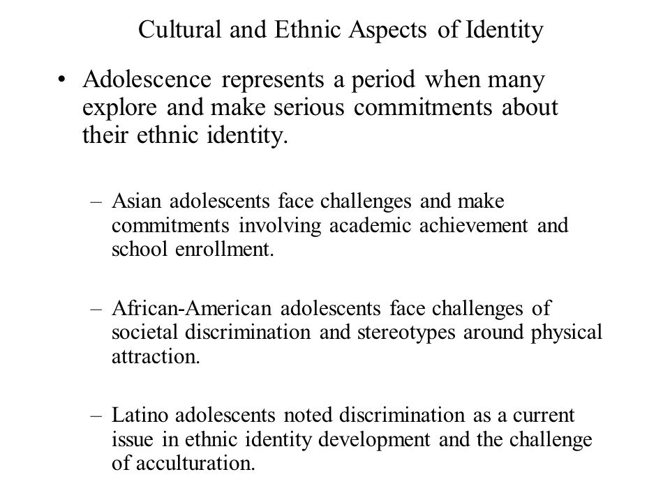 understanding cultural and ethnic identities In their 40 page article, stella ting-toomey and leeva chung discussed the  factors that affect the formation of our ethnic and cultural identities,.