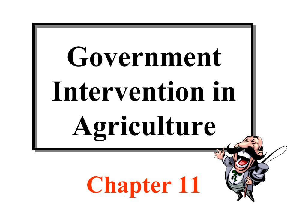 types of government intervention in agriculture Rationales for intervention the correction of market failures represents a second rationale for government intervention in the agricultural another type of.