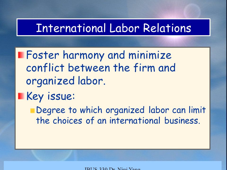 globalization and organized labour in the By chris mosquera executive summary: is organized labor a decaying business model  and globalization organized labor is a huge industry, .