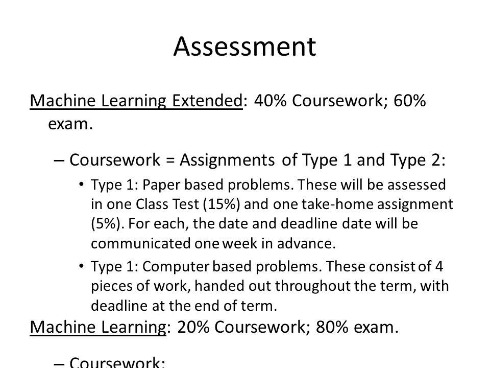 40 coursework 60 exam