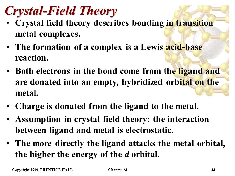 crystal field theory and ligand field theory pdf