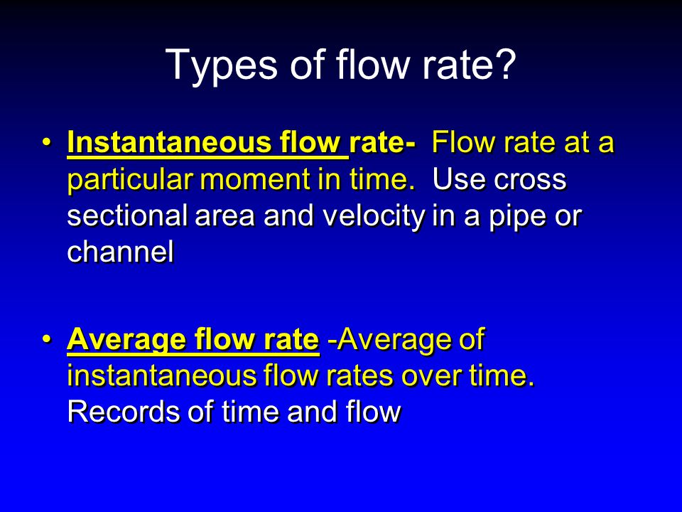 how to take average flow rate