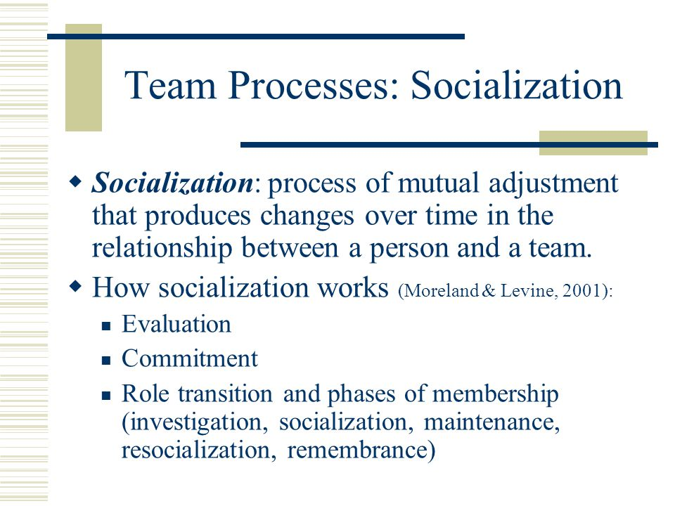 team and team processes