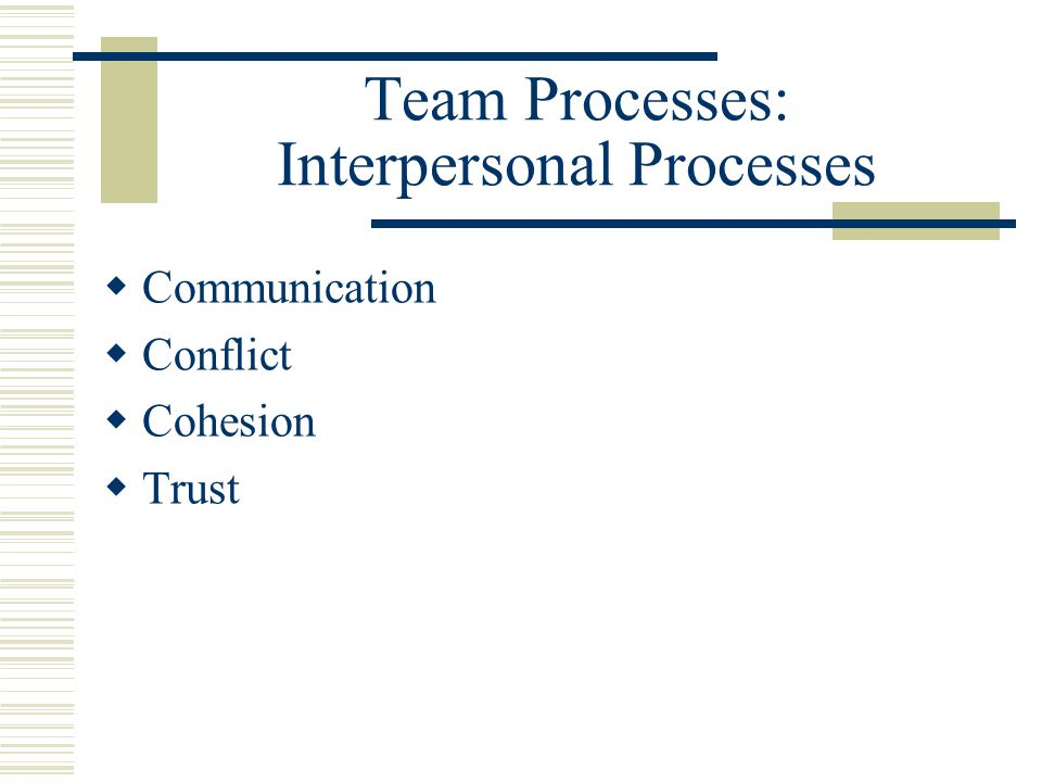 team cohesiveness and team conflict related Both papers concluded that team cohesion is positively related to team  effectiveness and  team or group conflict is a multidimensional construct with  facets of.