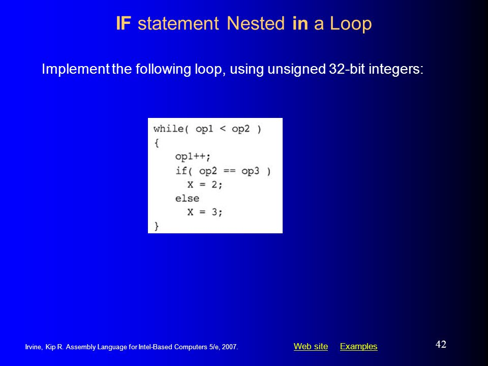 IF statement Nested in a Loop