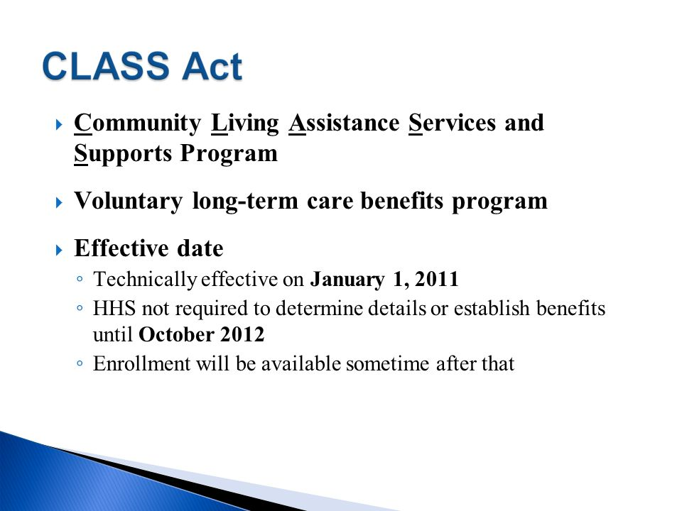 Community Living Assistance Services and Supports Program
