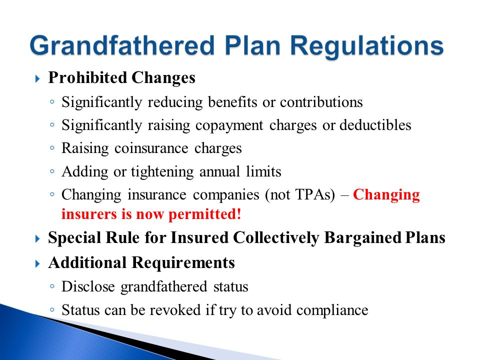 Special Rule for Insured Collectively Bargained Plans