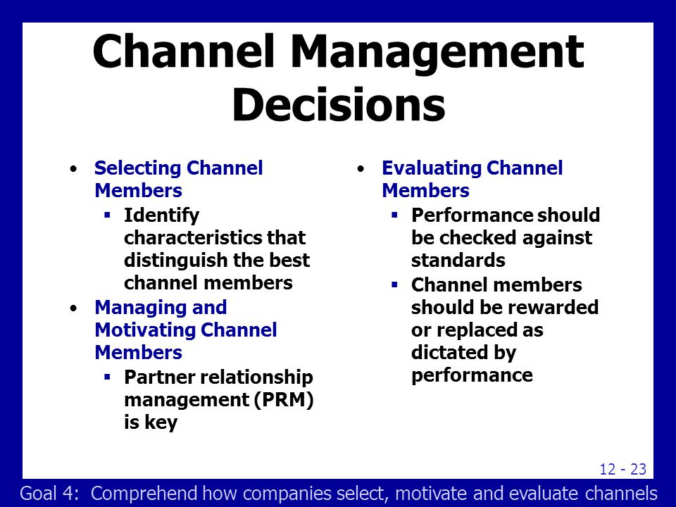 the importance of effectively managing distribution channels Sales & channel management  we help companies form effective selling strategies in all channels from key-account management to digital sales to indirect channel.
