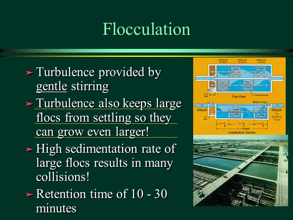 Flocculation Turbulence provided by gentle stirring