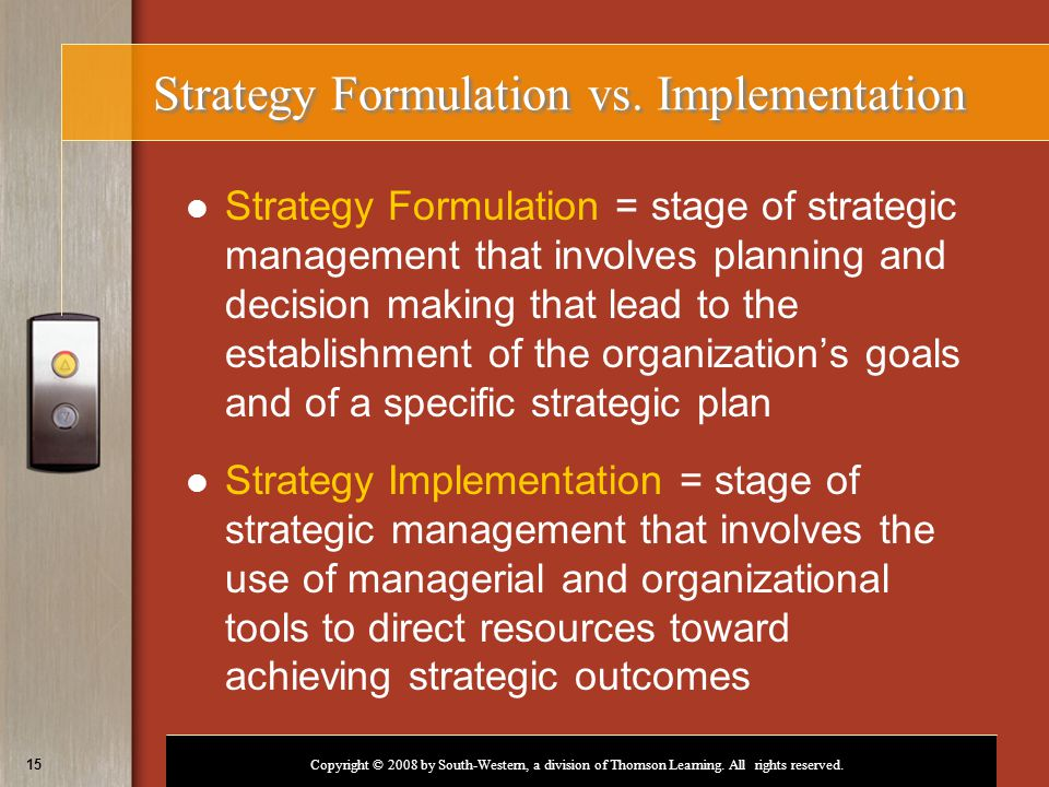 strategic management and scarce organization resources In strategic planning, a resource-allocation decision is a  for the success of the organization  strategic management enables resources to be.