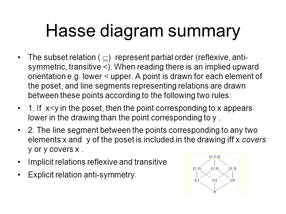 Computing fundamentals 2 lecture 4 lattice theory ppt download hasse diagram summary ccuart Images