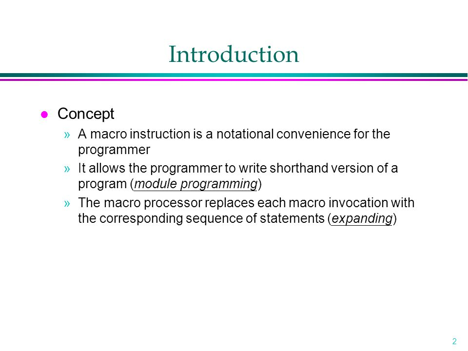introduction to system programming Unit 01: introduction to system programming what is system system is the  collection of various components ex:- college is a system what is programming.