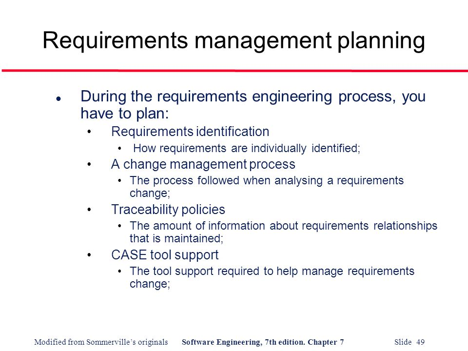 requirements management plan Requirements will feed into the details of the project and product scope describe  how requirements will be.
