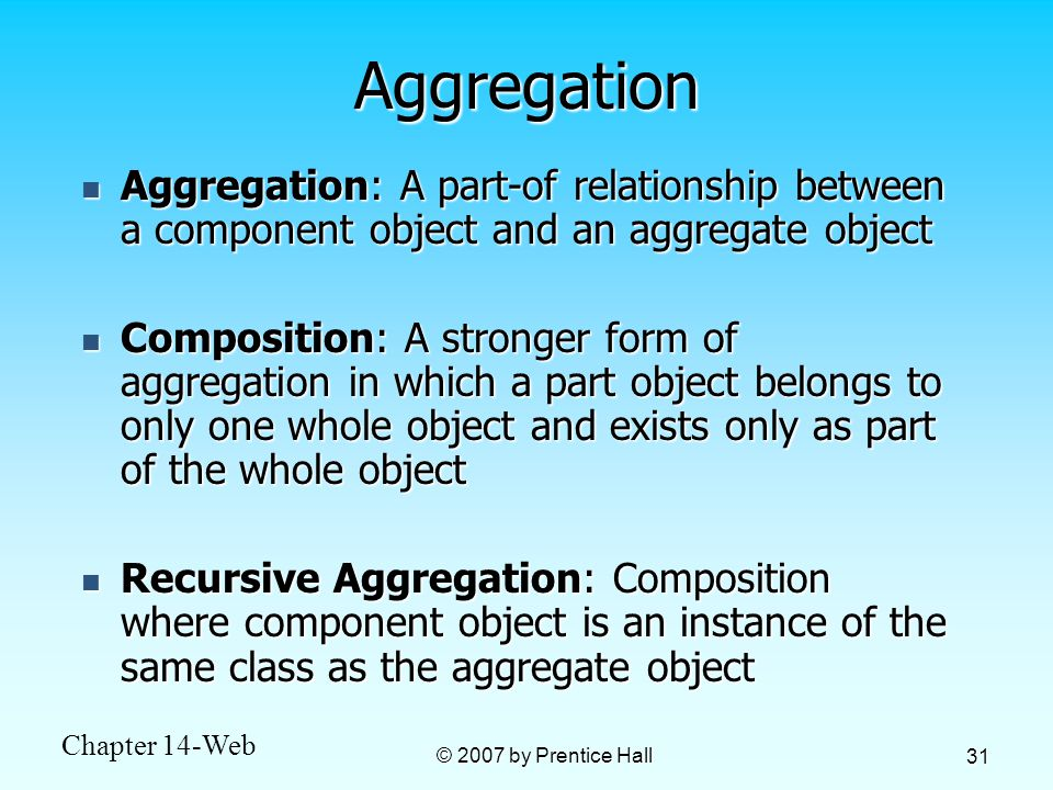 a part of relationship aggregation synonym