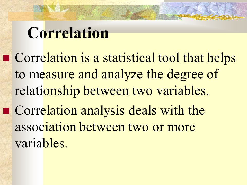 how is a relationship between two variables measured in statistics