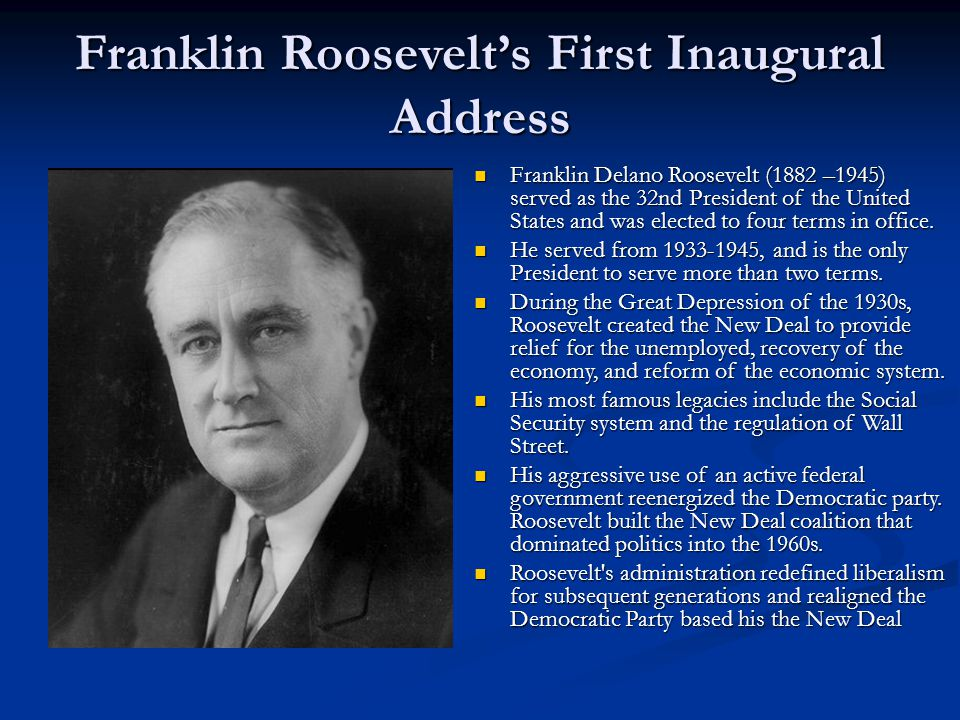 Franklin roosevelts welfare system in the united states
