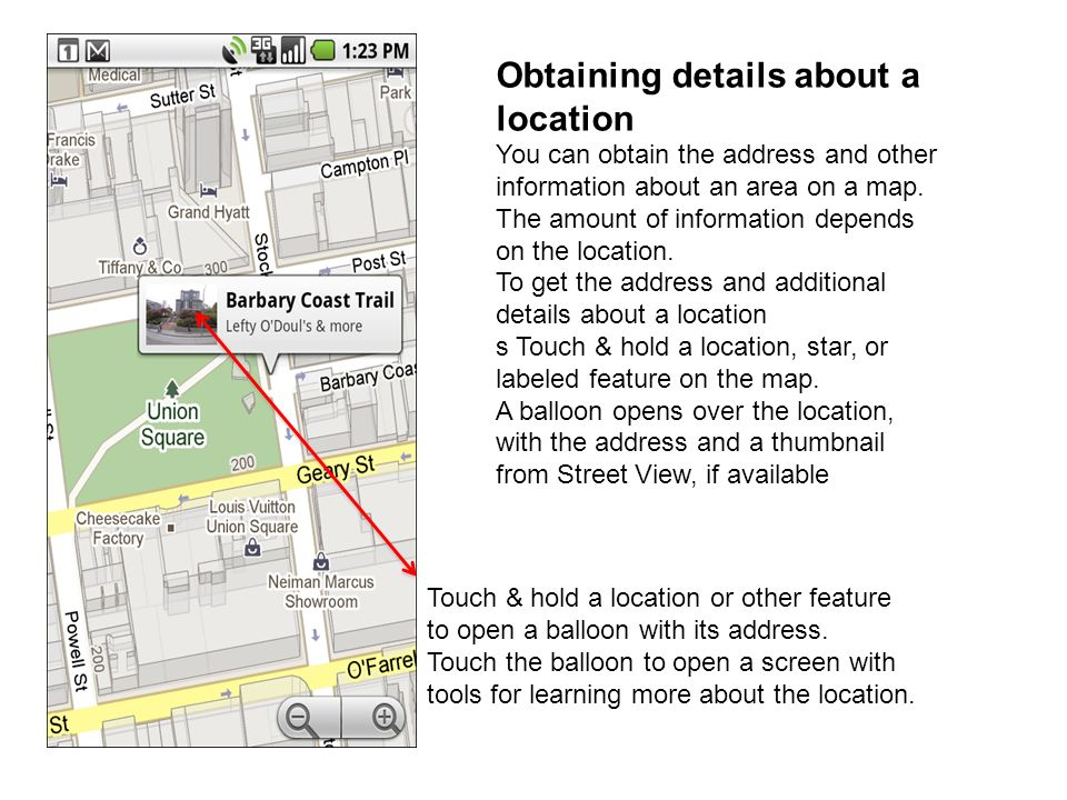 Obtaining details about a location