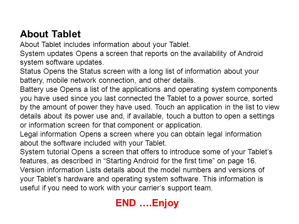 About Tablet END ….Enjoy