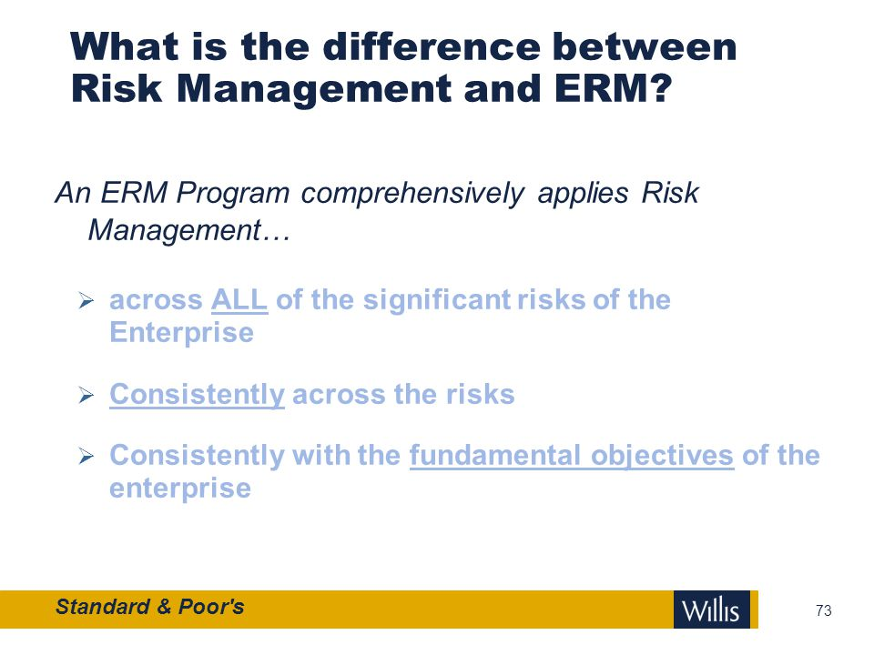 What is the difference between Risk Management and ERM