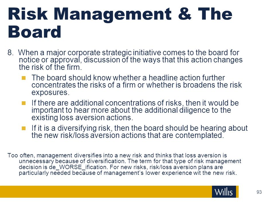 Risk Management & The Board
