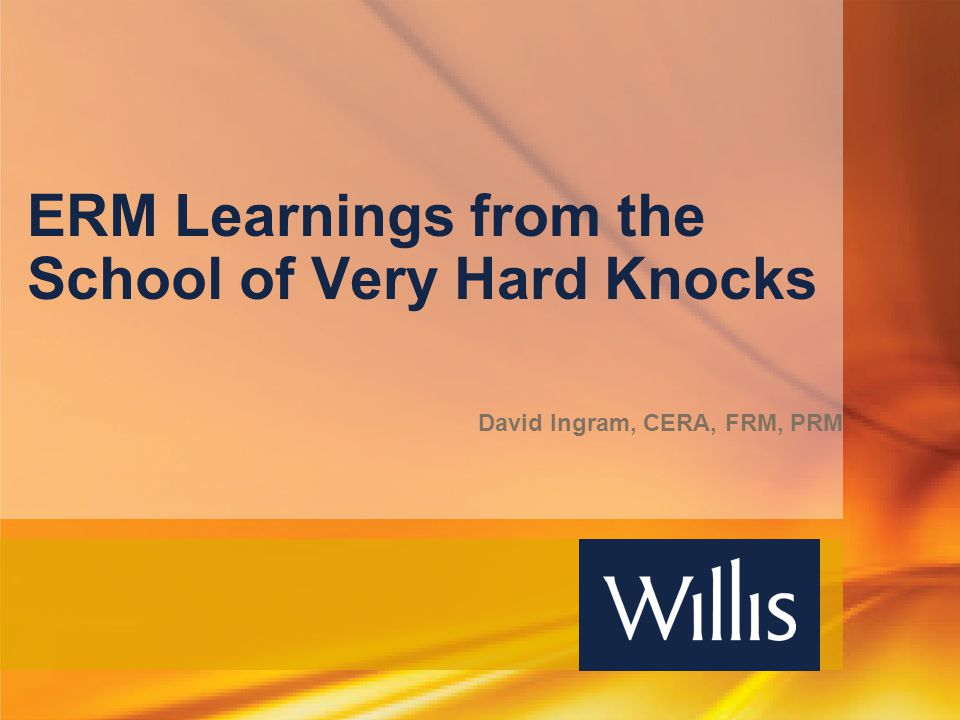 ERM Learnings from the School of Very Hard Knocks