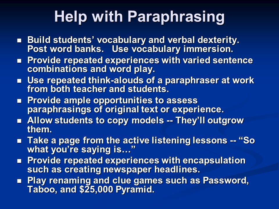 Paraphrasing Services You Can Afford