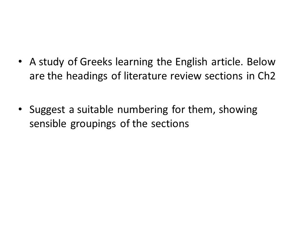 A study of Greeks learning the English article
