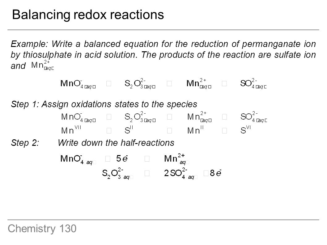 How do you write oxidation reduction half reactions?