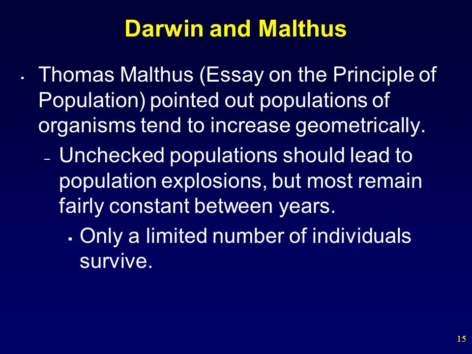 Thomas Malthus Essay On The Principle Of Population