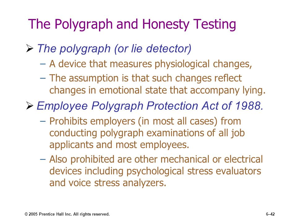 polygraph and integrity tests Home recruitment employee screening - polygraph vs integrity test employee screening - polygraph vs integrity test  polygraph tests prove dishonesty and not.