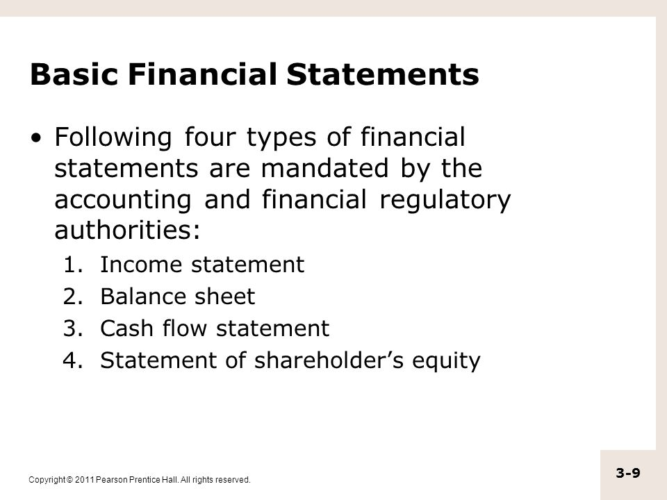 four types of financial statements Accounting for health care organizations 17-2 learning objectives after studying chapter 17, you should be able to:  types of services  may be reported in the notes to the financial statements 17-19 revenue (cont'd.