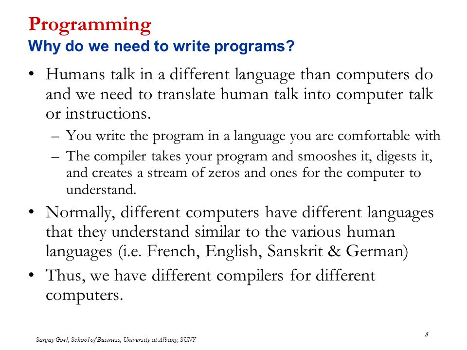 how to write computer programs Algorithm are just the instructions which gives clear idea to you idea to write the computer code related articles why every programmer should learn to optimize algorithms.