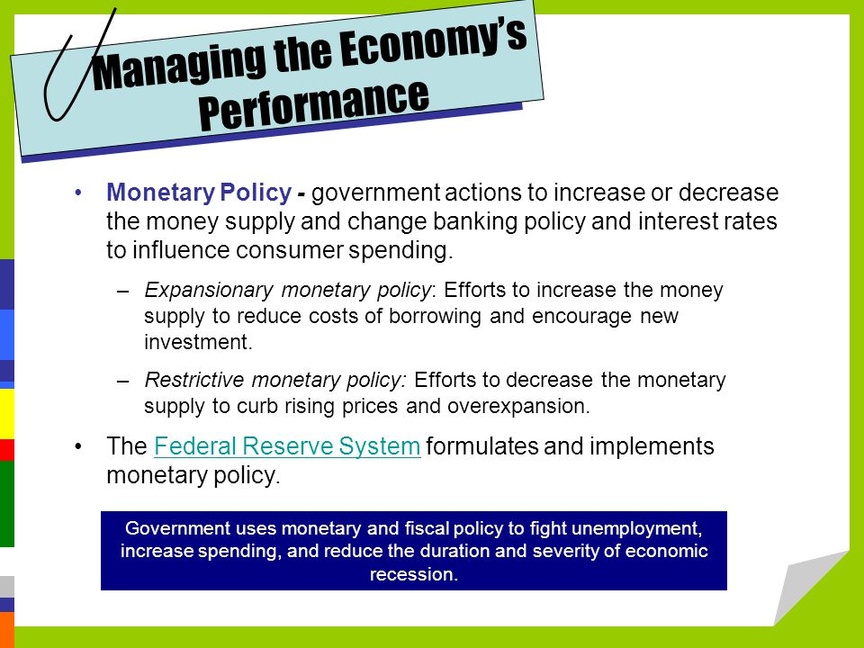 Managing the Economy's Performance