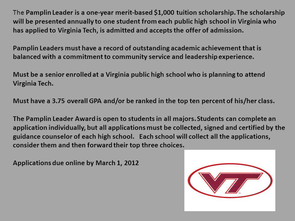virginia tech undergraduate admissions essay Jessica gulick, executive mba 2007 - vp of global marketing at csg invotas virginia tech's emba program launched my career before i even graduated.