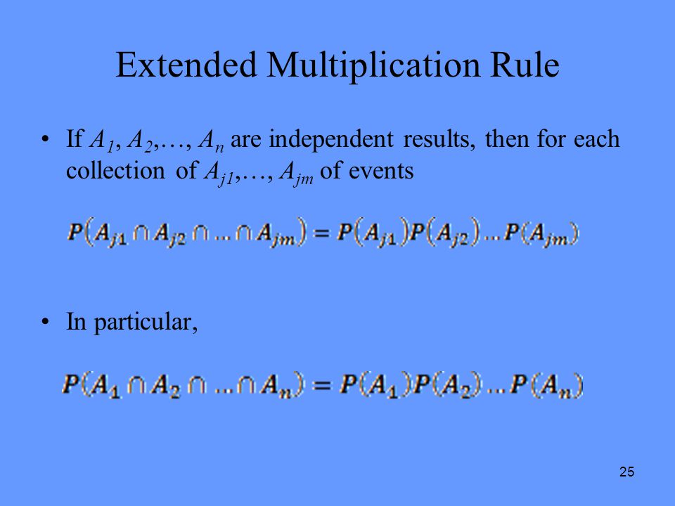 Extended Multiplication Rule