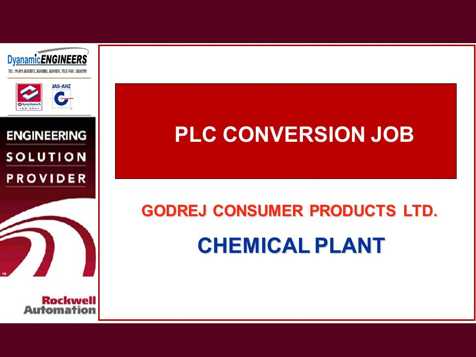 PLC CONVERSION JOB PLC CONVERSION JOB CHEMICAL PLANT