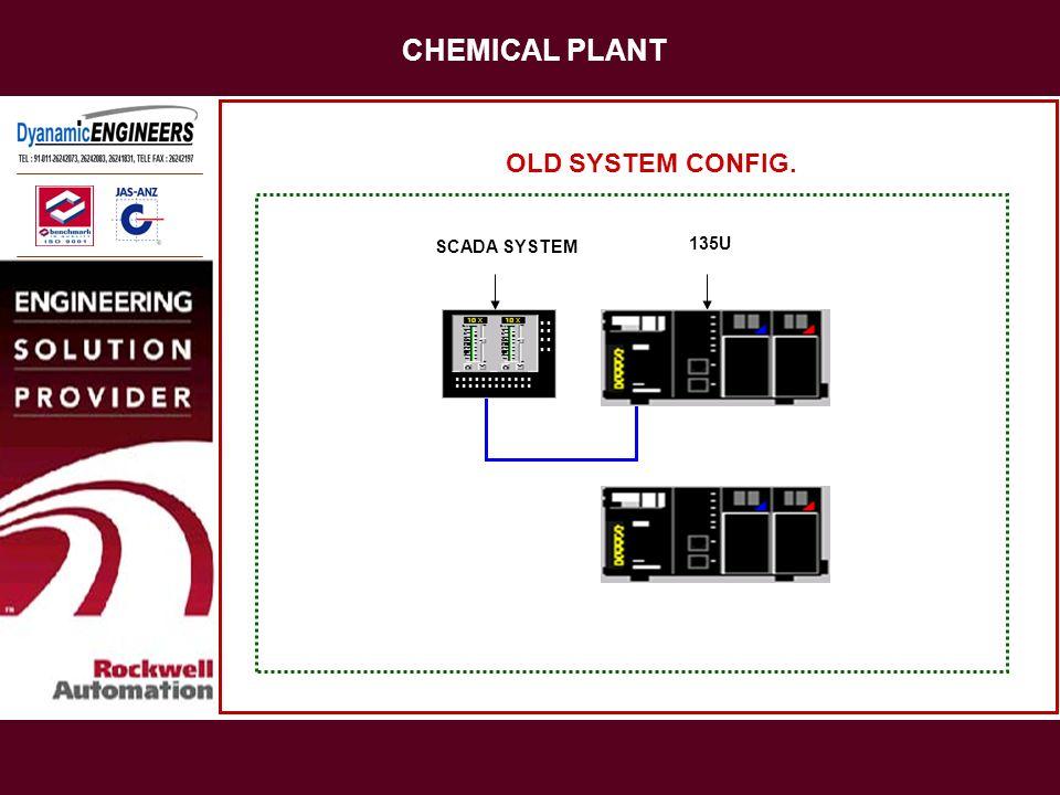 CHEMICAL PLANT OLD SYSTEM CONFIG. SCADA SYSTEM 135U