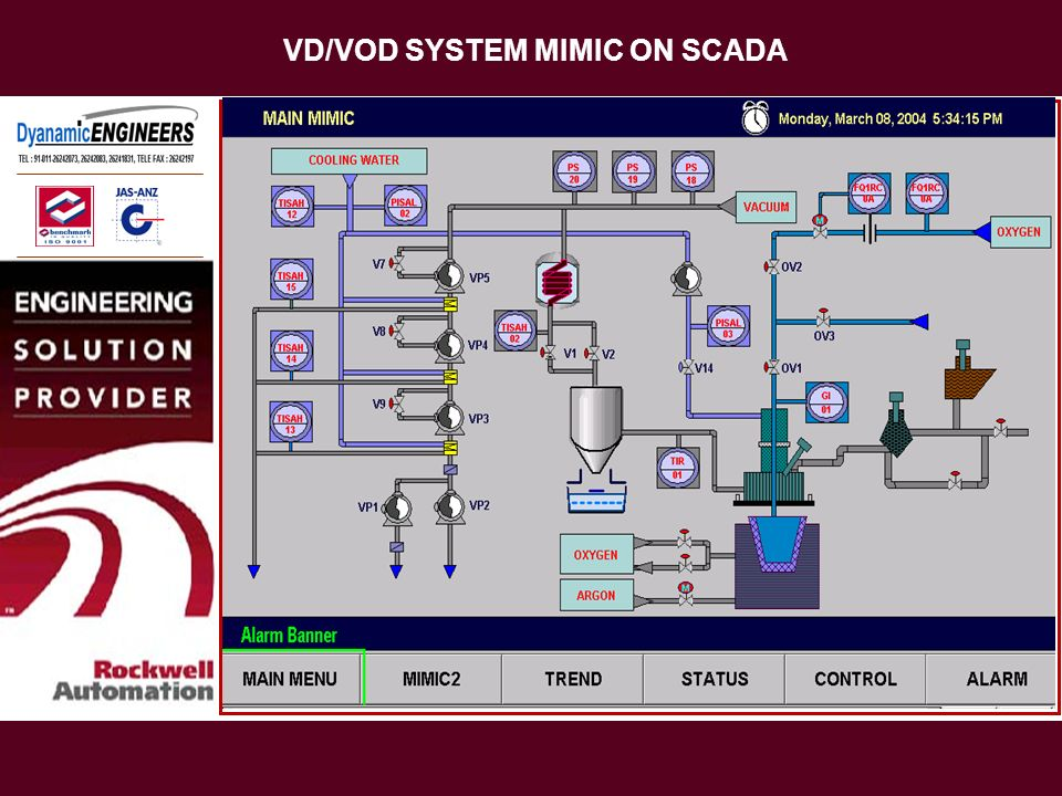 VD/VOD SYSTEM MIMIC ON SCADA