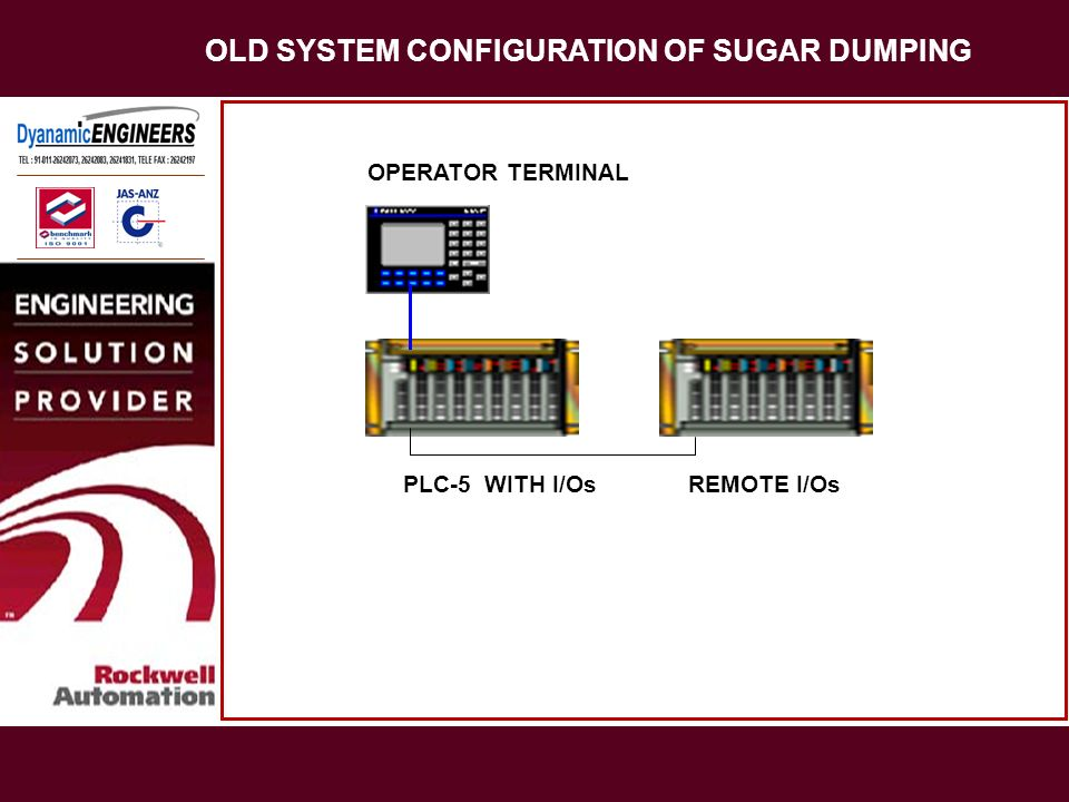 OLD SYSTEM CONFIGURATION OF SUGAR DUMPING